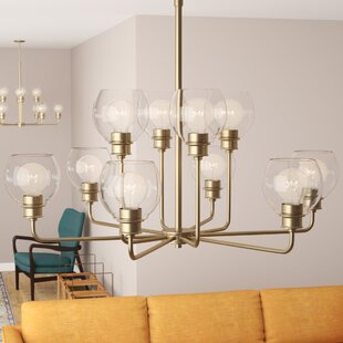 Langley Street Maria 10-Light Shaded Chandelier