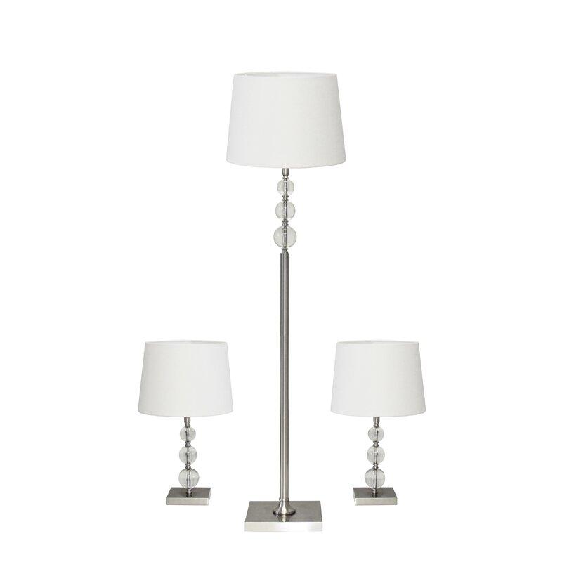 Charlton Home Chisdock Clic 3 Piece Table And Floor Lamp Set Reviews Wayfair