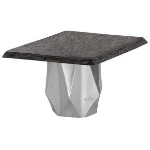 Arcadia Aluminum Side Table by Leona