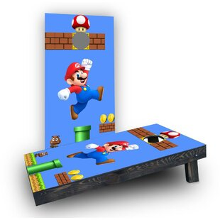 Custom Cornhole Boards Super Mario Brother - Mario Cornhole Boards (Set of 2)
