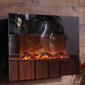 Touchstone Mirror Onyx� Wall Mount Electric Fireplace