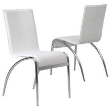 Modern White Chair modern dining chairs   allmodern