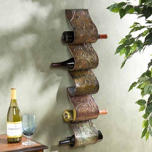 Unique Wine Racks | Barbury 5 Bottle Wall Mounted Wine Rack