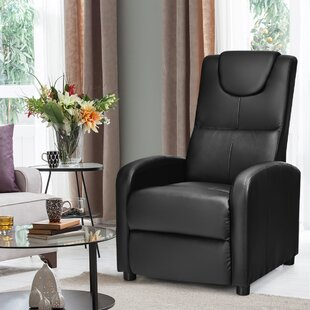 Electric Vibrating Leather Reclining Massage Chair by Latitude Run