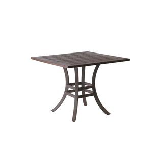 Resort Square Wrought Aluminum Bistro Table by Summer Classics Wonderful