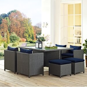 Sojourn 9 Piece Dining Set with Cushion