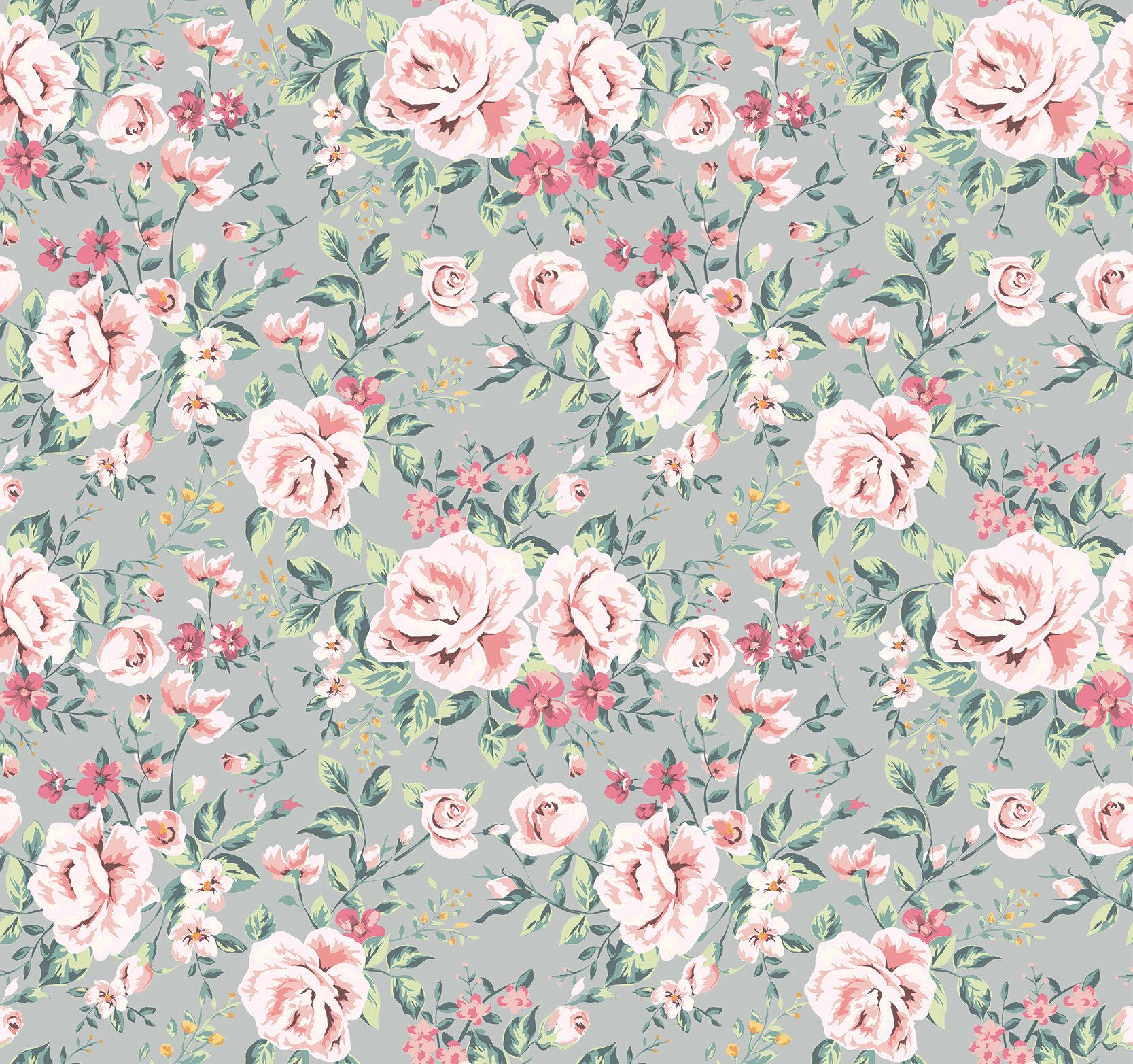 House Of Hampton Chavez Removable Vintage Nursery Floral 4 17 L X