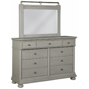 Blaire 9 Drawer Double Dresser with Mirror