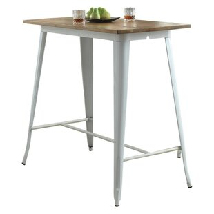 Budde Metal and Wood Pub Table..