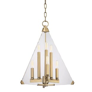 Diondre 6-Light Geometric Chandelier by Willa Arlo Interiors