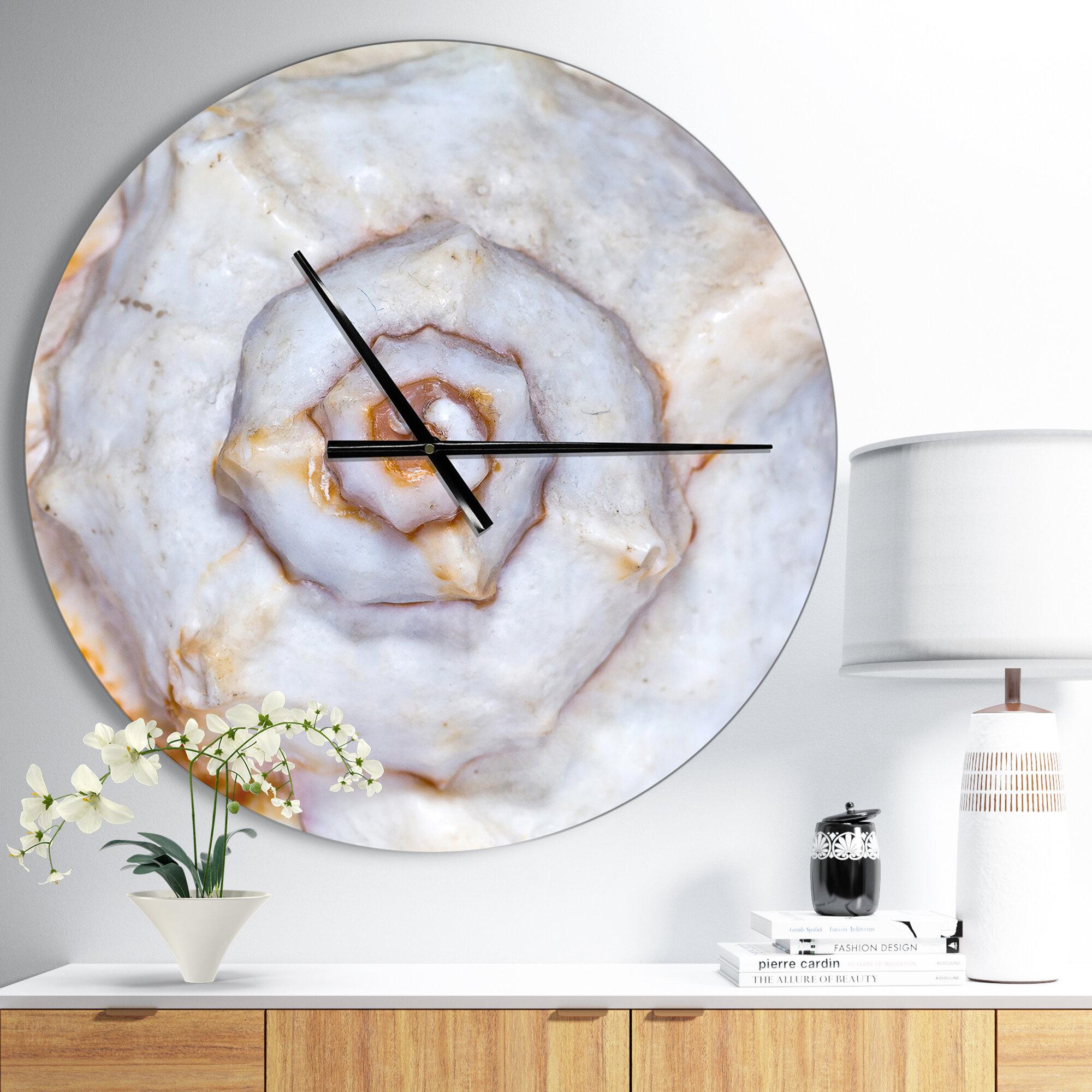 Modern Designart Great Skeleton of Sea Shell Coastal Wall Clock