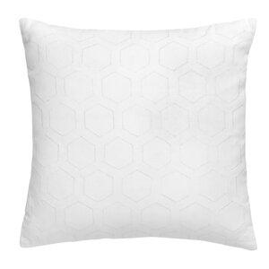 Hexagon Square Eyelet Cotton Throw Pillow