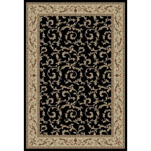 Reviews Edmont Jewel Veronica Black Floral Area Rug By World Menagerie