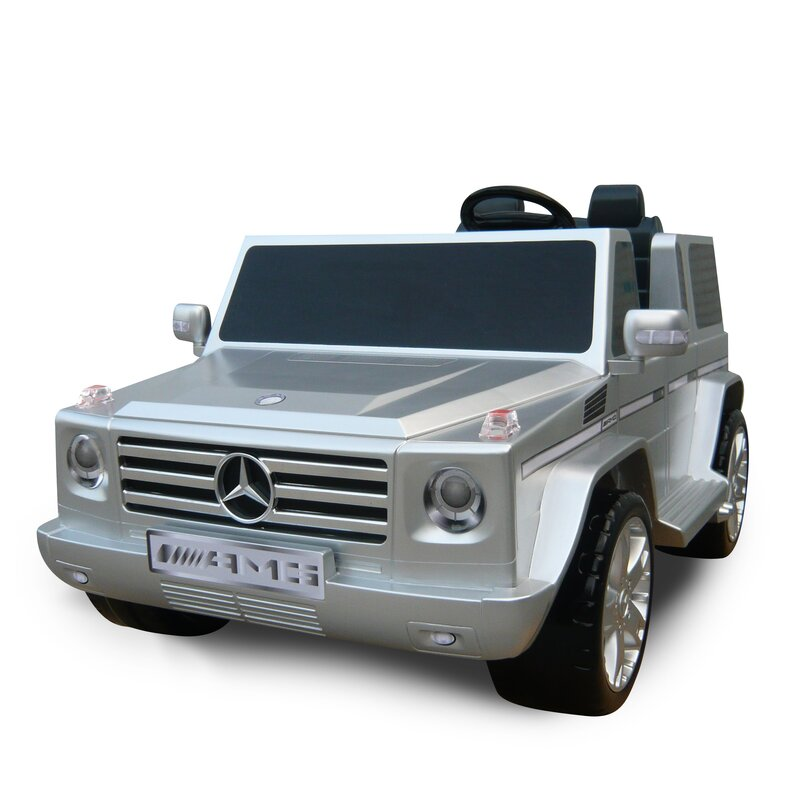 kidz motorz mercedes benz g55 amg two seater 12v battery powered