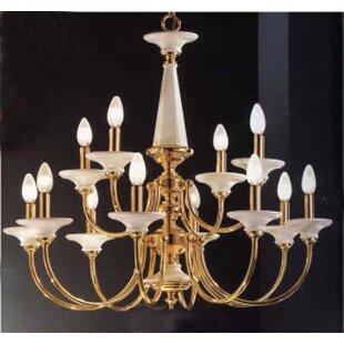 Spanish Ceramic 12-Light Chandelier by Classic Lighting