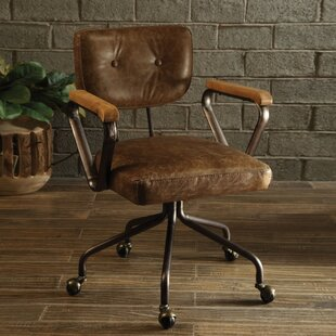 Lindell Genuine Leather Task Chair by 17 Stories New