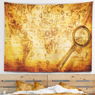 Desk glass world map wayfair abstract magnifying glass on world map tapestry gumiabroncs Gallery
