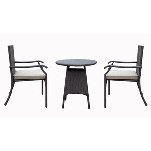 Higuera 3 Piece Bistro Set with Cushion by Red Barrel Studio