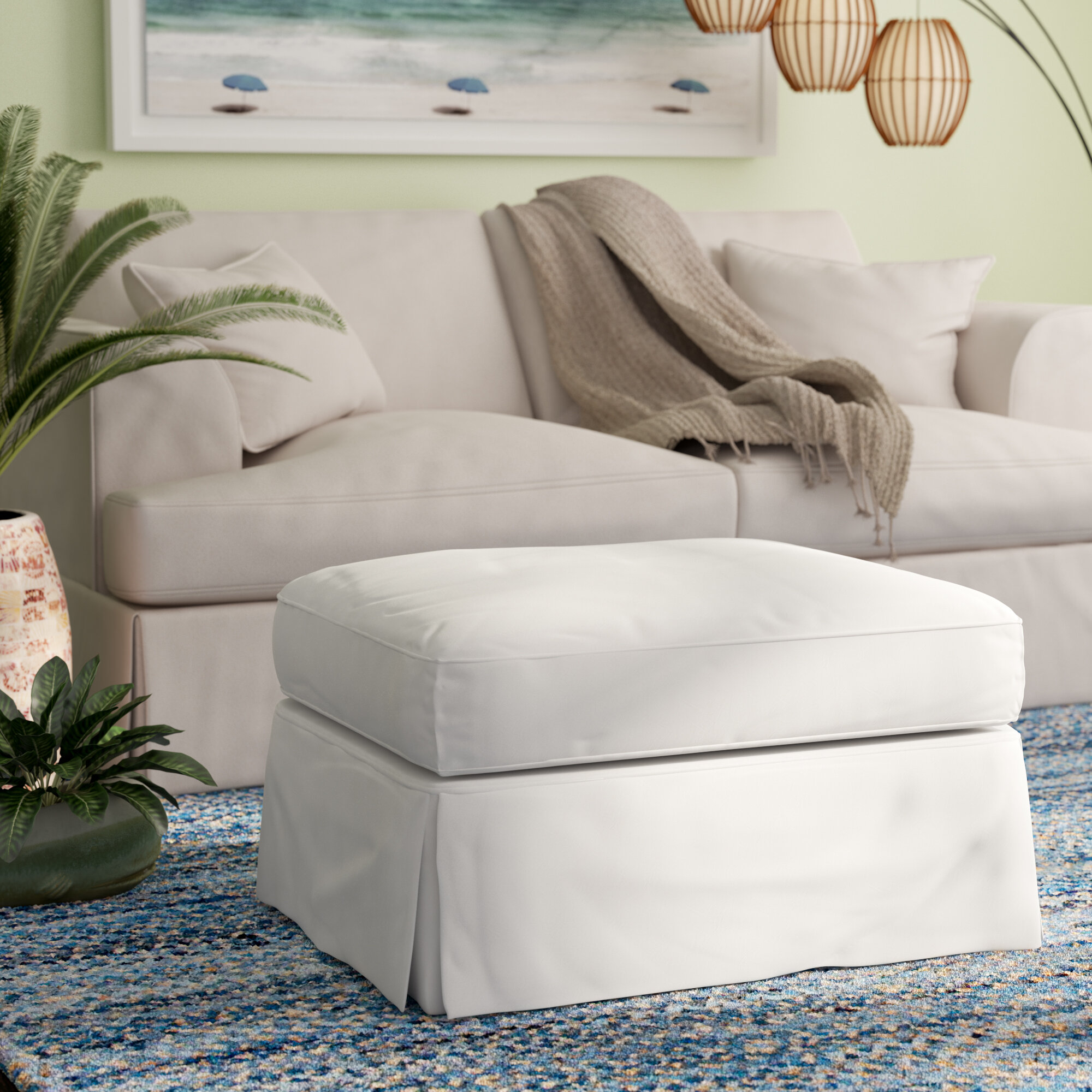 garden barninc slipcovers stretch ottomans slipcover ottoman for large