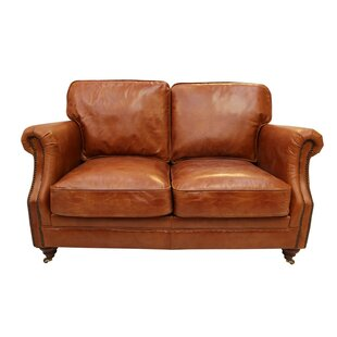 Bobby Leather 2 Seater Loveseat By Williston Forge