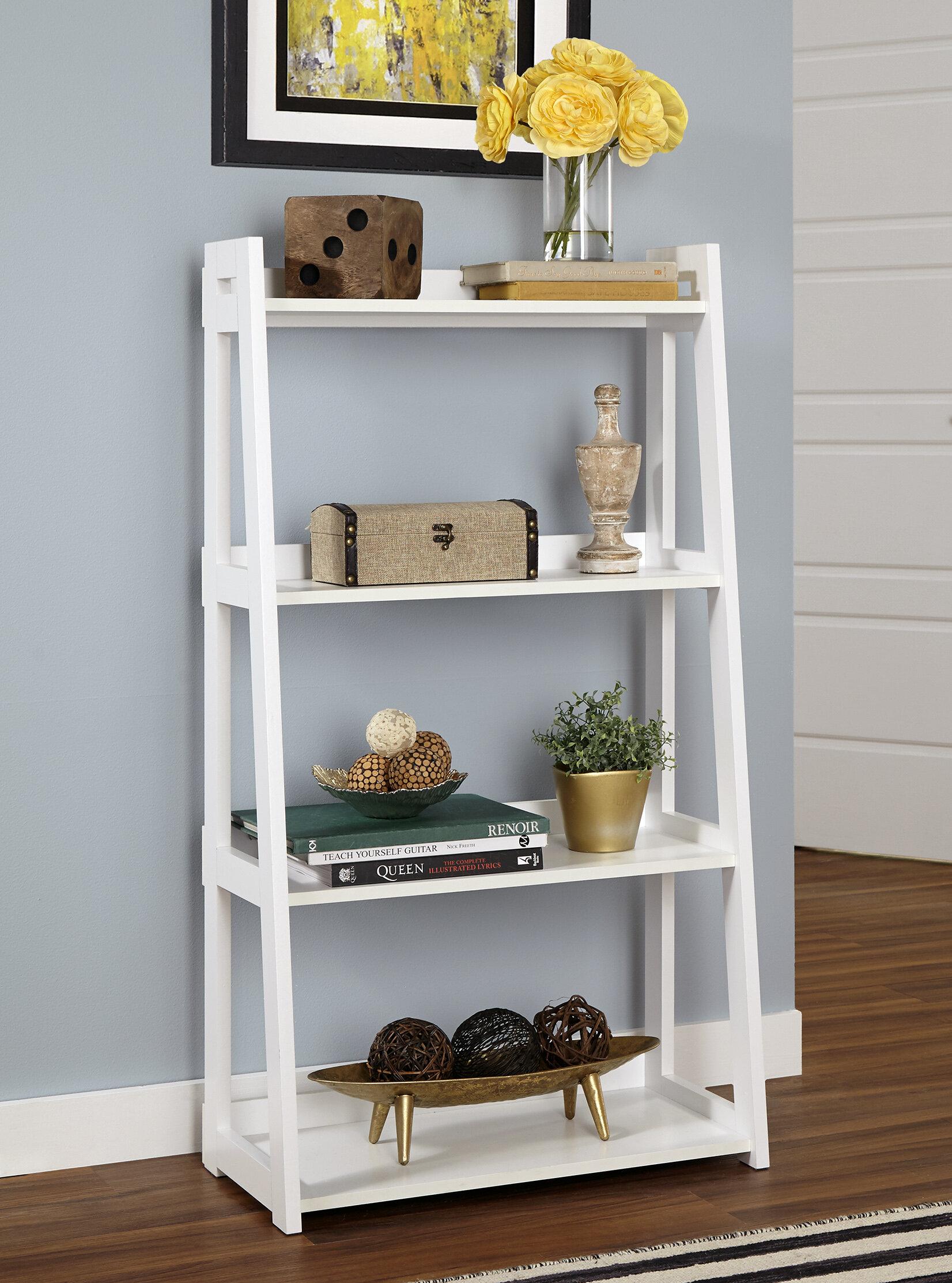 Wide Ladder Bookcase