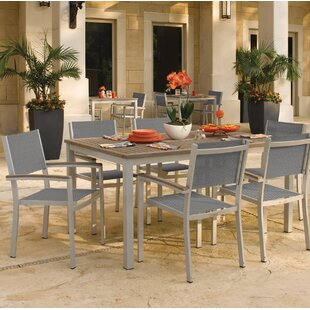 Latitude Run Farmington Contemporary 7 Piece Dining Set