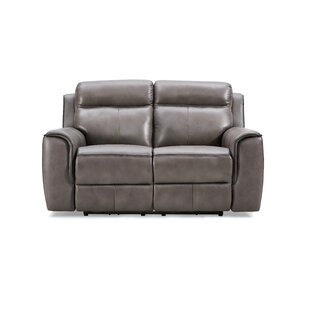 Arlene Genuine Leather 2 Seater Reclining Sofa By Ebern Designs