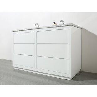 Reviews Kasandra 56 Double Bathroom Vanity Set ByOrren Ellis