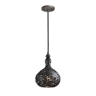 Colchester 1-Light Teardrop Pendant by World Menagerie