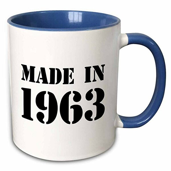 Symple Stuff Moton Made In 1963 Funny Birthday Birth Year Text Fun Bday Stamp With Year You Were Born Humor Coffee Mug Wayfair