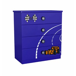Racer 4 Drawer Chest by Just Kids