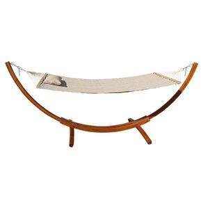 wood hammock stand