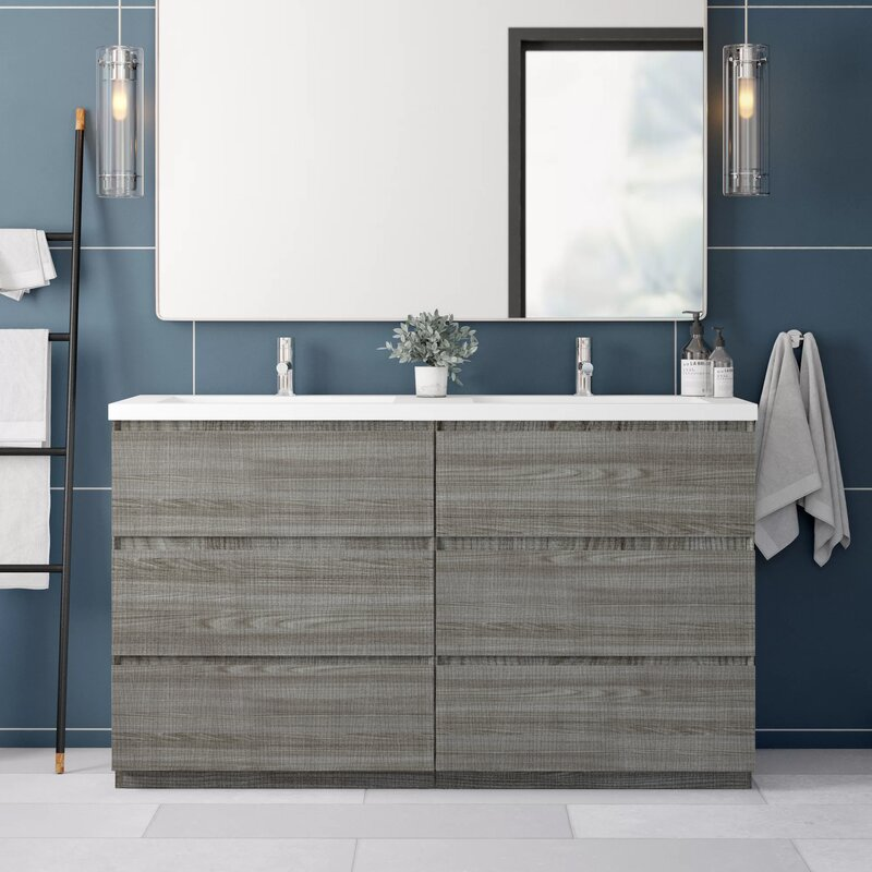 Chantell Free Standing 59 Double Bathroom Vanity Set Reviews Allmodern