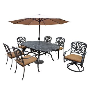 Darby Home Co Bosch 7 Piece Dining Set with Cushions