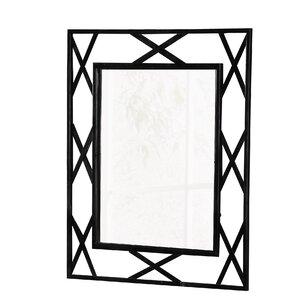 breana rectangle black frame metal mirror - Metal Mirror Frame