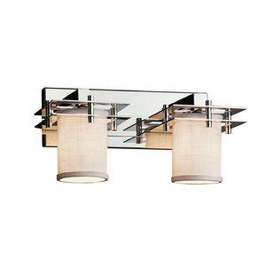 Ebern Designs Favela 2 Light Cylinder w/ Flat Rim Vanity Light