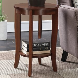 Lucile Round End Table by Winston Porter