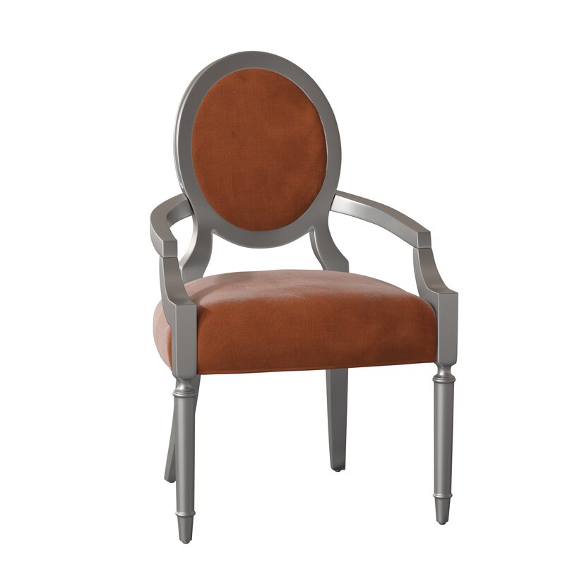 Caracole Classic Chit Chat Upholstered King Louis Back Arm Chair