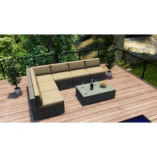 Harmonia Living District 7 Piece Sectional Set with Cushions