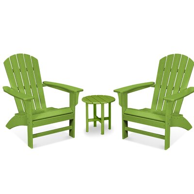 Trex Outdoor Yacht Club 3 Piece Seating Group Frame Finish: Lime