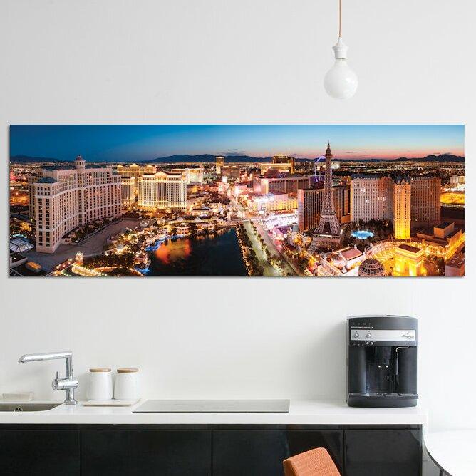 East Urban Home The Las Vegas Strip At Sunrise Las Vegas Nevada Usa Photographic Print On Wrapped Canvas Wayfair