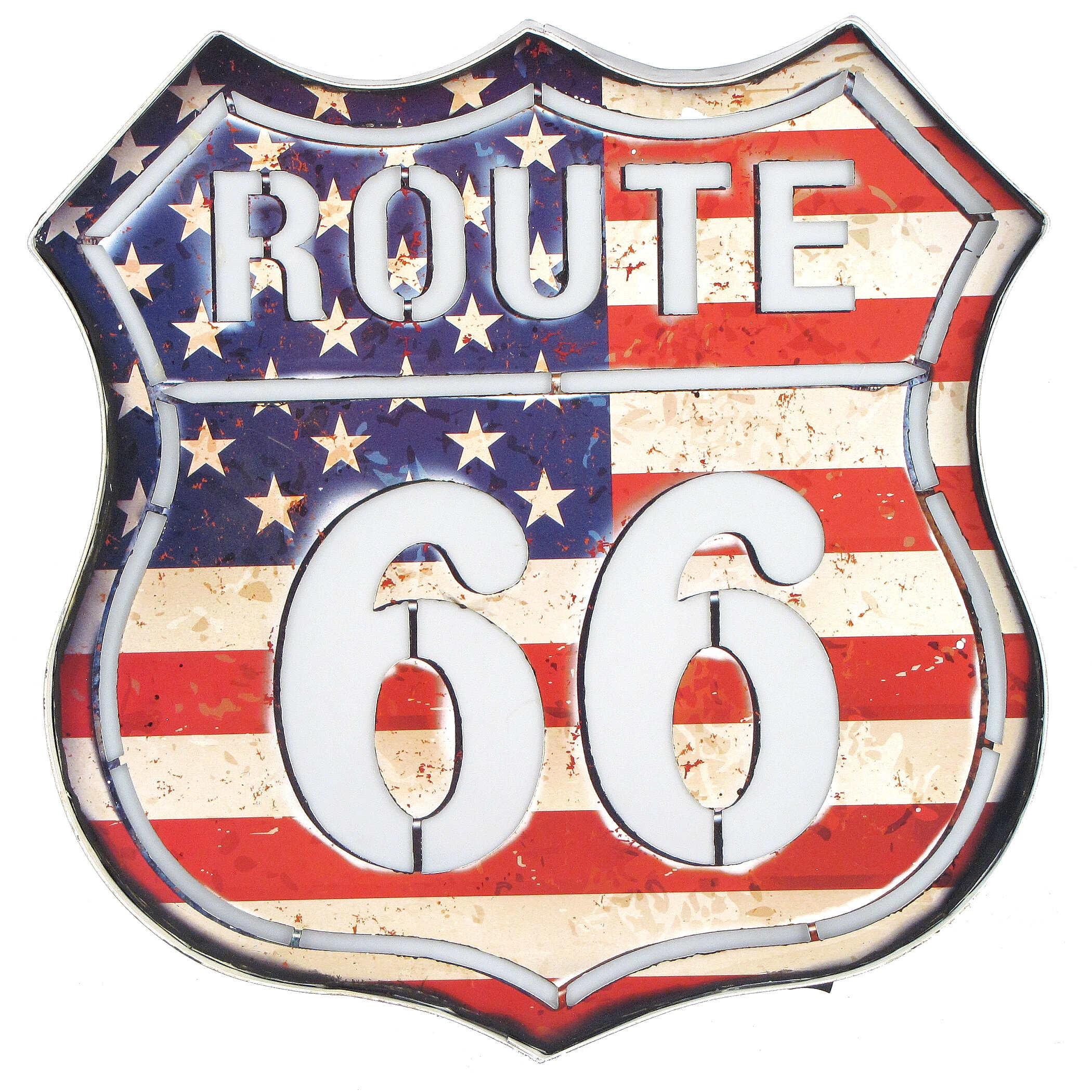 Williston Forge Route 66 American Flag Wall Dcor Wayfair
