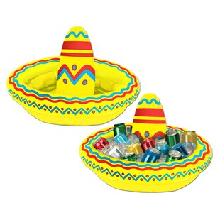 The Beistle Company Fiesta 10 Qt. Inflatable Sombrero Cooler
