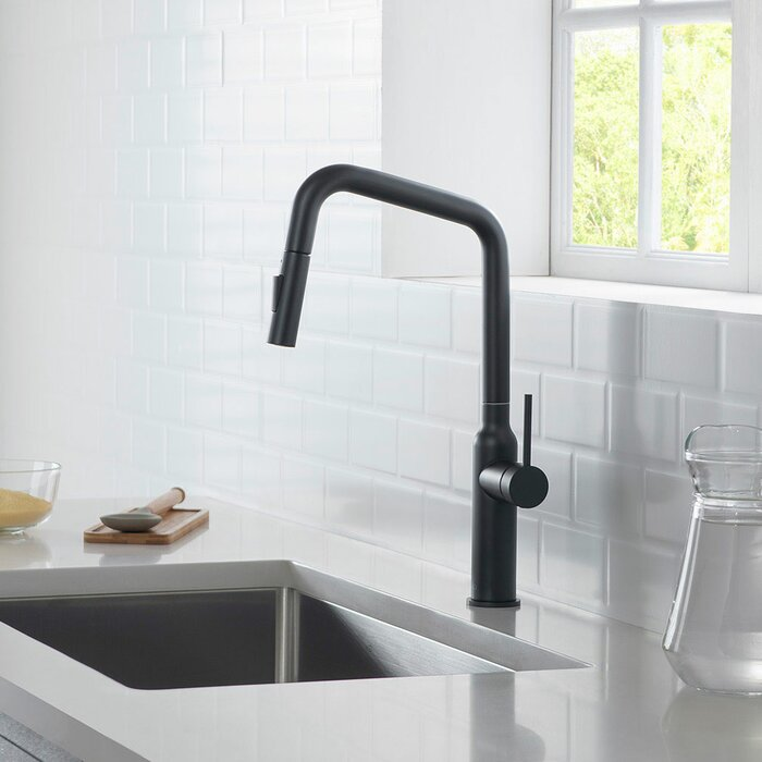 Macon Modern Lead Free Solid Brass Pull Down Single Handle Kitchen Faucet
