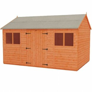 Tiger 12 Ft. W X 6 Ft. D Shiplap Reverse Apex Wooden Shed By Tiger Sheds