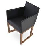 , Black Leatherette Harput Sled Wood Chair by sohoConcept