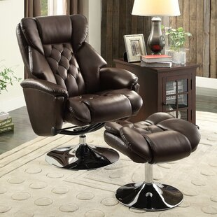 Aleron Manual Swivel Recliner with Ottoman