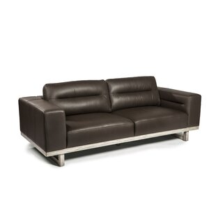 Ignazio Leather Sofa by 17 Stories