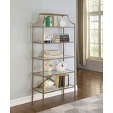 Styron 70 H x 31.5 W Metal Etagere Bookcase by Everly Quinn