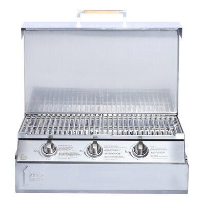 3-Burner Fold Away Natural Gas Grill Space Grill